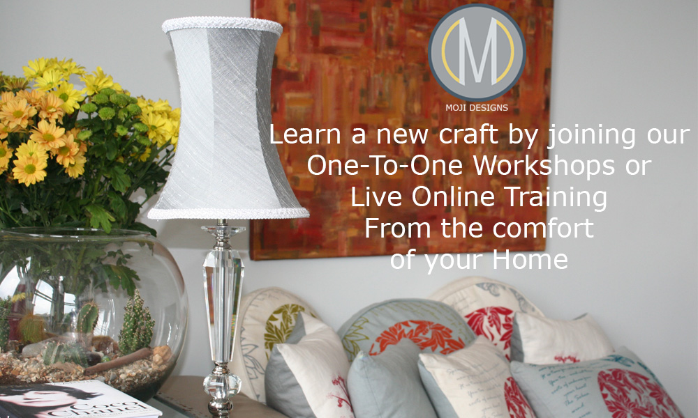 Learn a new craft by joining our One-To-One workshops or live online training from the comfort of your home