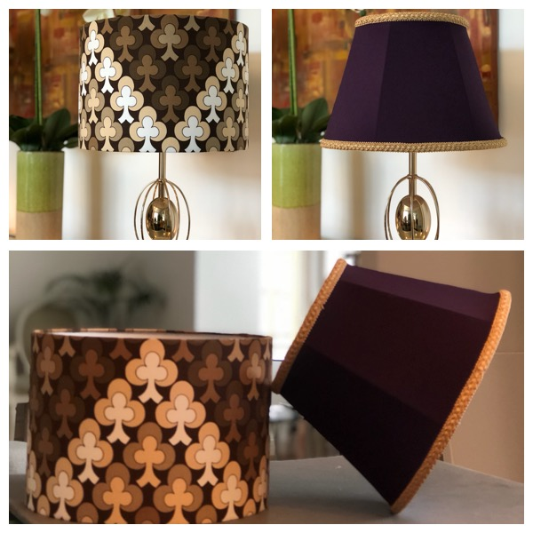 One modern and 2 traditional lampshades made by my student during our 2 Day complete lampshade making masterclass