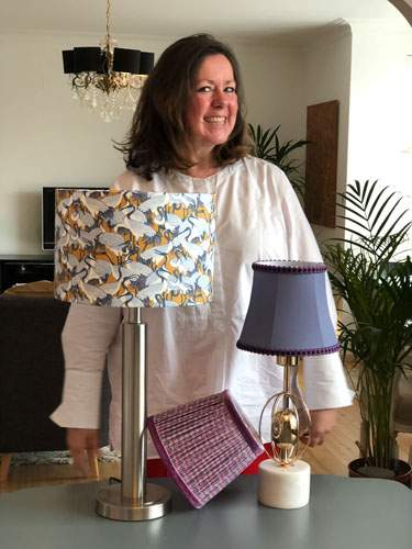 1-2-1 lampshade making workshop with Moji Designs in Hove