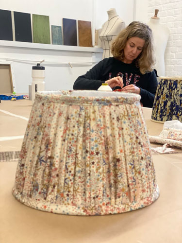 Professional Lampshade Making Workshops in London with Moji Designs