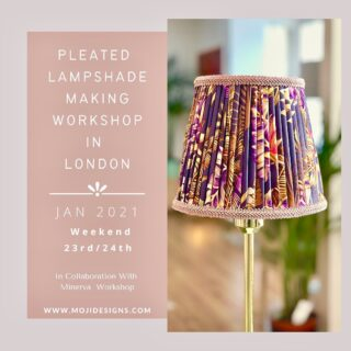 Hands up who loves pleated or gathered lampshades? In my 2-day pleated lampshade making workshop in London in collaboration with Minerva workshop @workshopminerva , you have the chance to learn how to make one of these gorgeous lampshades in addition to making a pleated lining in linen or cotton and also a hand-sewn trim.  Head over to my website to get yourself on my January course as there is only one place left on that weekend.